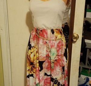 Rainbow Dresses - Floral maxi dress